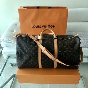 BEAUTIFUL! Louis Vuitton keepall 55 bandouliere LV
